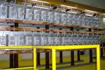 Kondenzátorová baterie FEAG, zkušebna transformátorů, Portugalsko