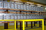 FEAG capacitor battery, transformer testing facility, Portugal