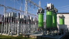 Vysílač HDO 110 kV - vazební transformátory + kondenzátorové baterie C2