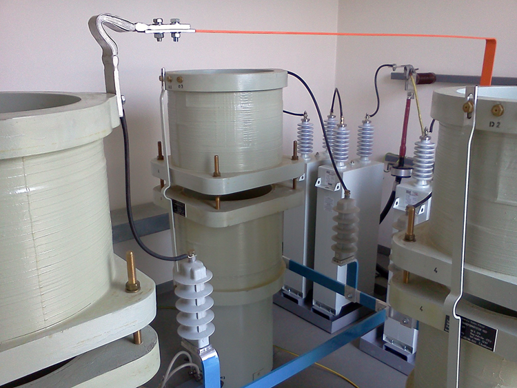22 kV Ripple Control transmitter - coupling transformers + C2 capacitor batteries